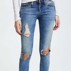 BLANKNYC distressed skinny jeans good vibes 25